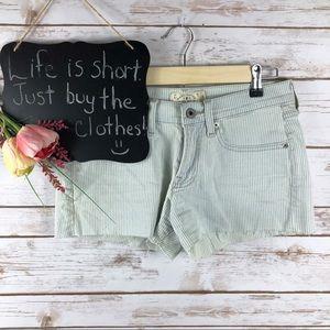 Lucky Brand Cut Off light wash stripe shorts